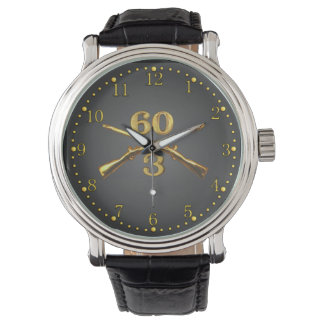 3/60th Inf. Brass Crossed Rifles Watch