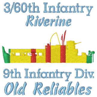 3/60th Inf. Riverine ATC Front & Sleeve Embroider