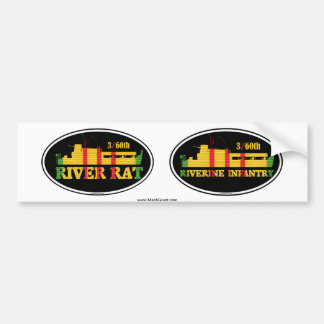 3/60th Riverine Infantry Euro-Sticker Pair Bumper Sticker