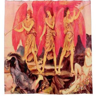 3 Angels Vintage Shower Curtain
