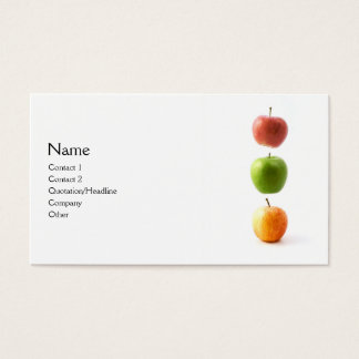 3 Apples Business Card