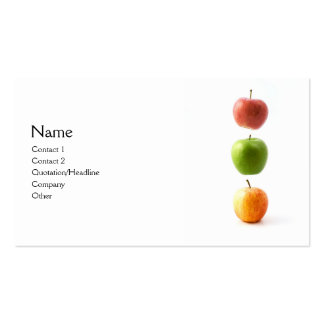 3 Apples Pack Of Standard Business Cards