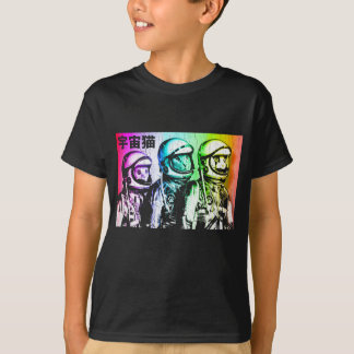 3 Astronaut Space Cats T-Shirt
