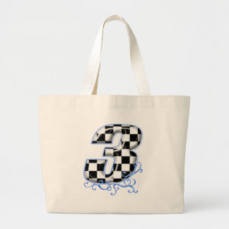 3 auto racing number canvas bags