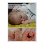 3 baby photo modern montage vertical wall hanging