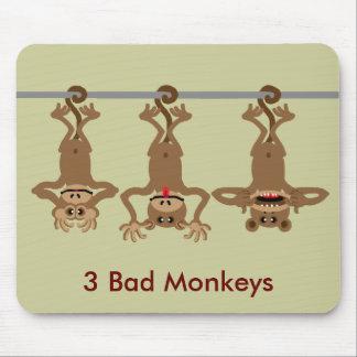 3 bad monkeys mouse mat