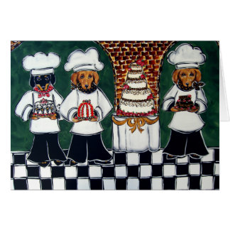 3 Bakers Doxie Greeting Card