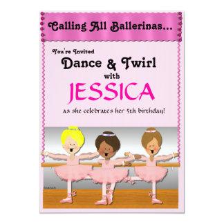 3 Ballerinas Party Invite