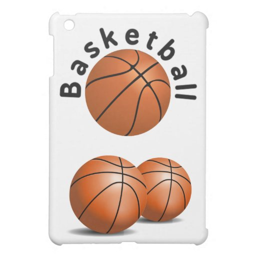 3 Basketball Sports Balls with Wording Cover For The iPad Mini