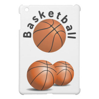 3 Basketball Sports Balls with Wording iPad Mini Covers