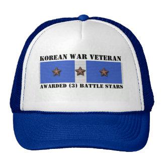 3 BATTLE STARS KOREAN WAR VETERAN CAP