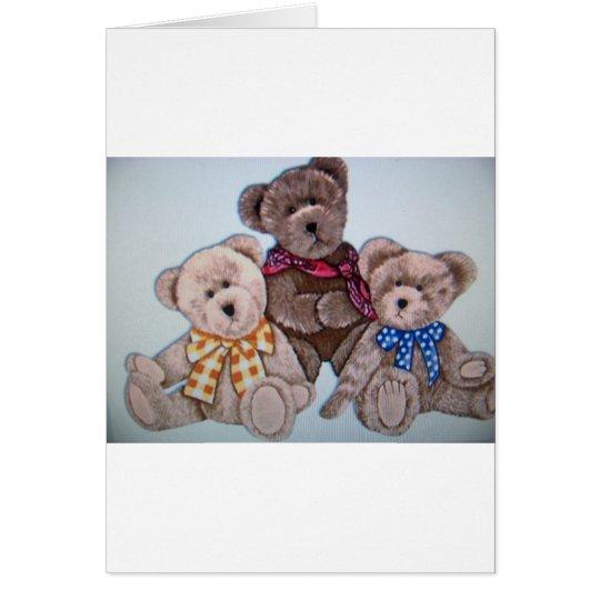 3 bears card