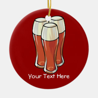 3 Beers (customizable) Christmas Ornament