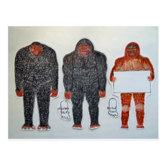 3 BIGFOOT, H, A, S, on white,.JPG Postcard