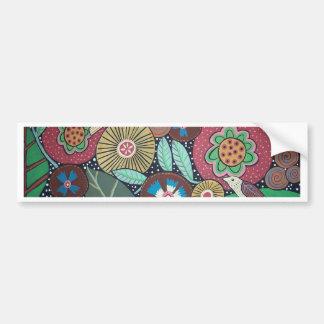 3 Bird Botanical Car Bumper Sticker