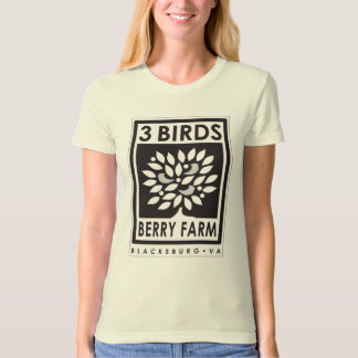 3 Birds Berry Farm Organic T-Shirt Black Logo