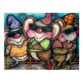 3 Blind Mice Nursery Rhymetime Card Postcard