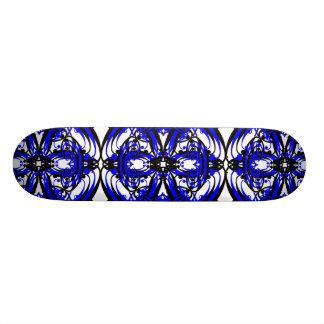 3 Blue Alternate Custom Skate Board