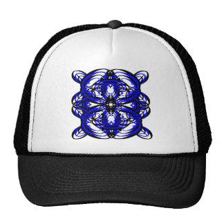 3 Blue Alternate Transparent Mesh Hat