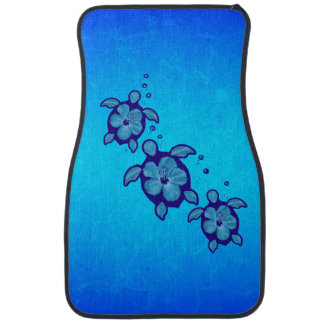 3 Blue Honu Turtles Car Mat