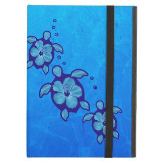 3 Blue Honu Turtles Case For iPad Air