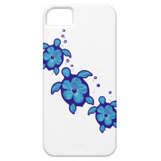 3 Blue Honu Turtles Case For The iPhone 5