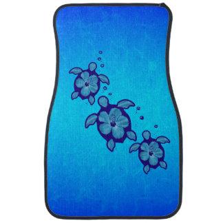 3 Blue Honu Turtles Floor Mat