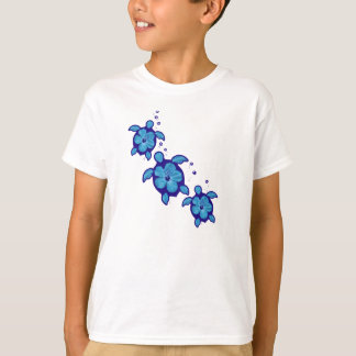 3 Blue Honu Turtles T-Shirt