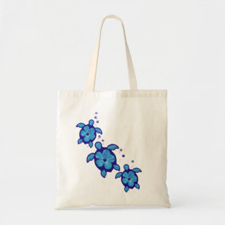 3 Blue Honu Turtles Tote Bag