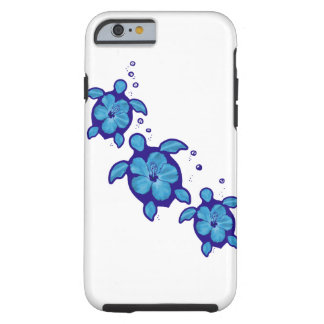 3 Blue Honu Turtles Tough iPhone 6 Case