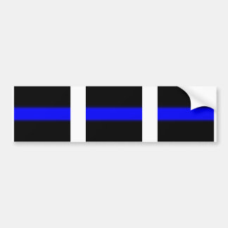 3 blue line window Sticker Bumper Sticker