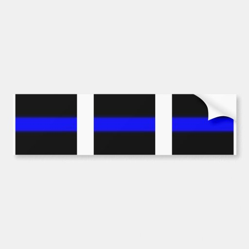3 blue line window Sticker Bumper Stickers