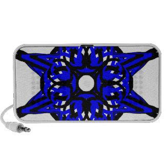 3 Blue Transparent Mp3 Speaker