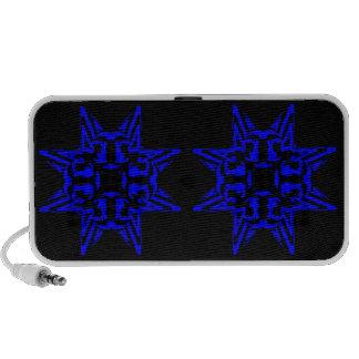 3 Blue Transparent PC Speakers