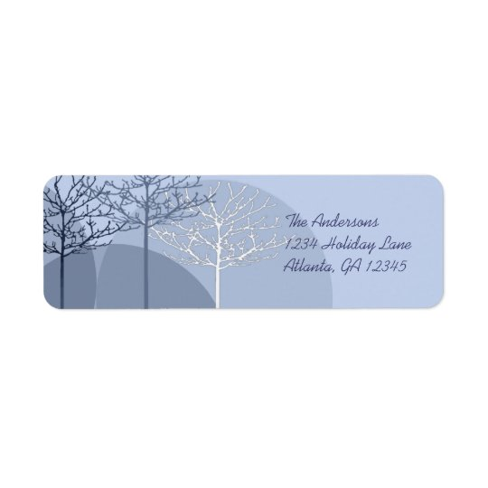 3 Blue Trees Return Address Return Address Label