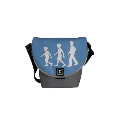 3 Brothers: Paper Cut-Out Style Boys Messenger Bag