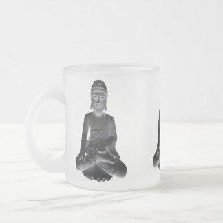 3 Buddhas Frosted Glass Mug