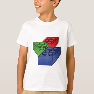 3 Building Blocks - vector pop art T-Shirt