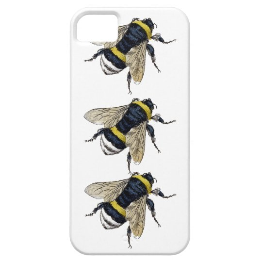 3 Bumble Bees Walking Be Unique Vintage Design