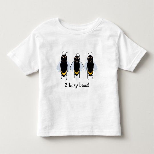 3 Busy Bees BuzzAboutBees cotton toddler t-shirt
