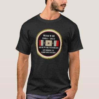 3 CAMPAIGN STARS IRAQ WAR VETERAN T-Shirt