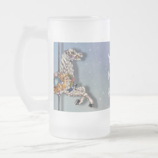 3 Carousel Horses Frosted Mugs
