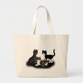 3 Cats Canvas Bags