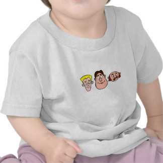 3 Characters Front Face Tee Shirts