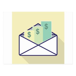 3 Checks in one envelope Postcard