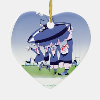 3 cheers french rugby, tony fernandes ceramic heart decoration