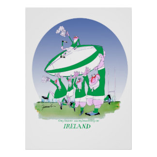 3 cheers ireland rugby, tony fernandes poster