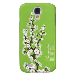 3 Cherry Blossom (green ) Galaxy S4 Case