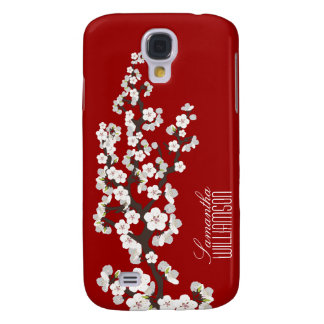 3 Cherry Blossom (red) Galaxy S4 Case