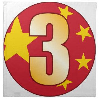 3 CHINA Gold Napkin